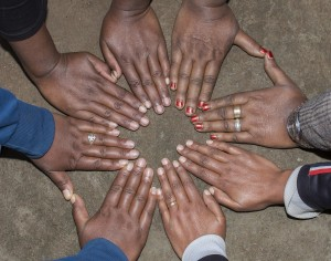 Circule of hands - Sebeta self help group, set up by Siiqqee